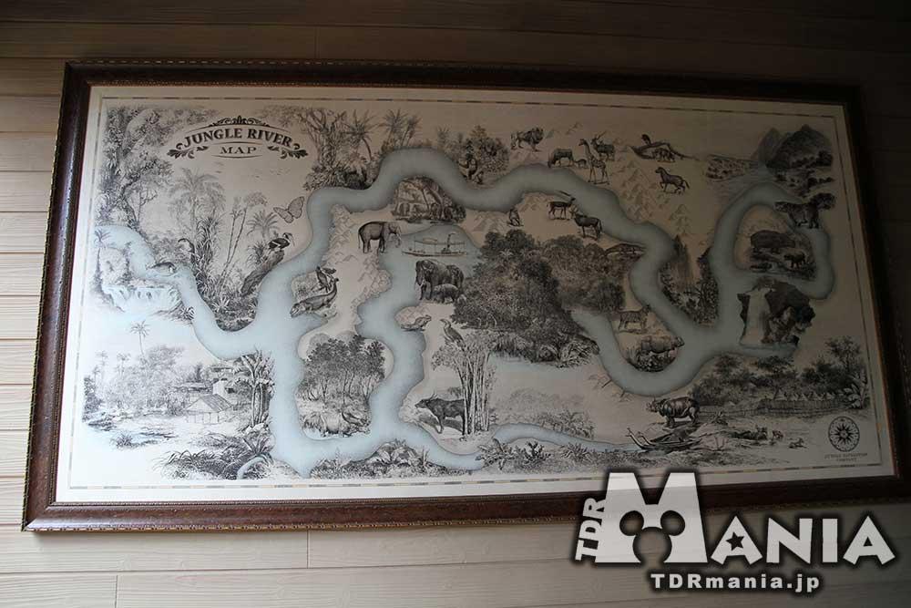 ジャングルクルーズの地図