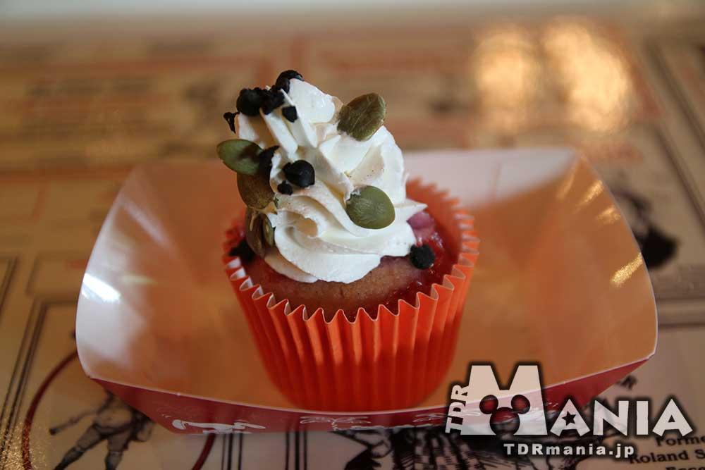 紫イモのカップケーキ