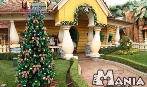 ミッキーの家のクリスマスデコレーション