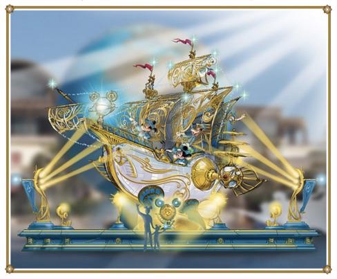 アクアスフィアの15周年デコレーション(c)Disney