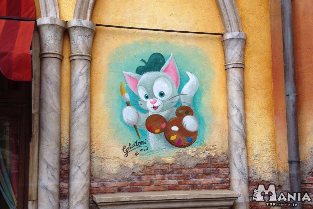 ジェラトーニが描かれたパラッツォ・カナルの壁