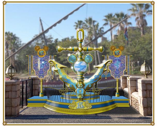 アラビアンコーストに設置されるクリスタルポイント(c)Disney