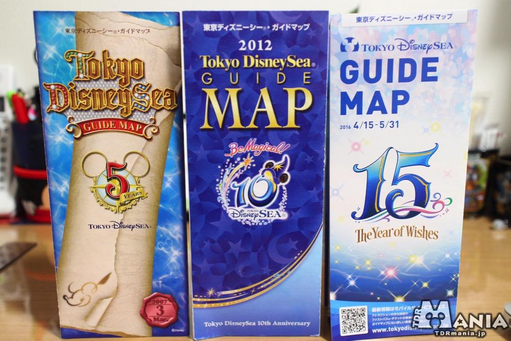 右から5周年、10周年、15周年のMAP
