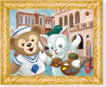 ジェラトーニが描くアート (c)Disney