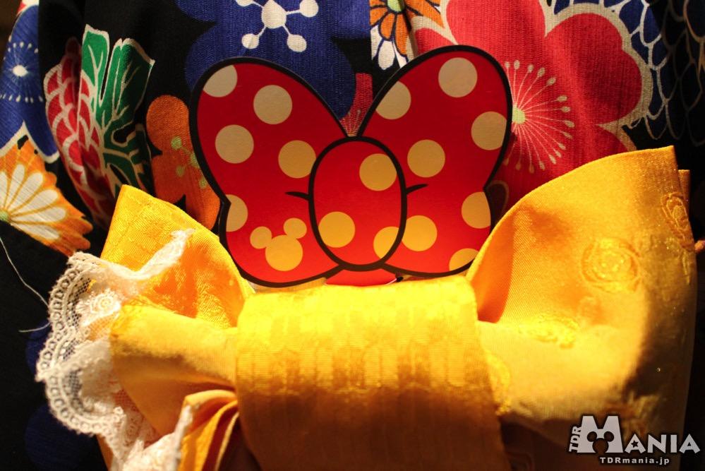 ミニーマウスデザインのリボン