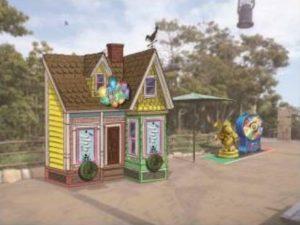 「レミーのおいしいレストラン」がテーマのゲームブース