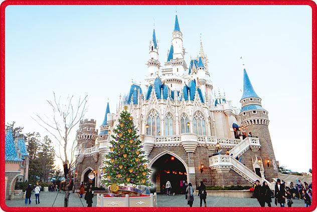 シンデレラ城 クリスマスツリー