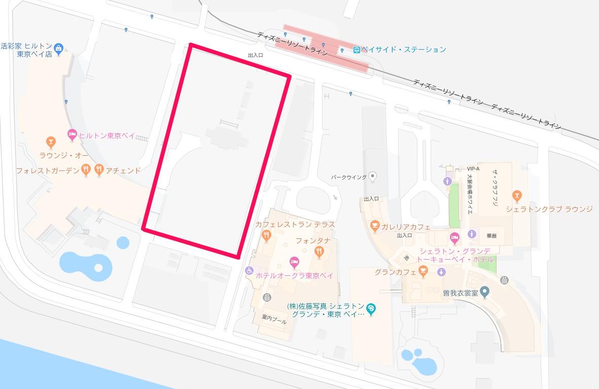 新ディズニーホテル建設予定地