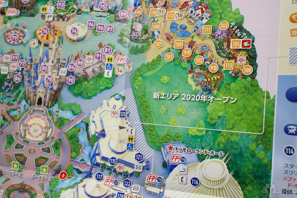 東京ディズニーランド 新エリア マップ