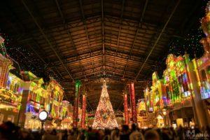 ワールドバザール クリスマス 環境演出